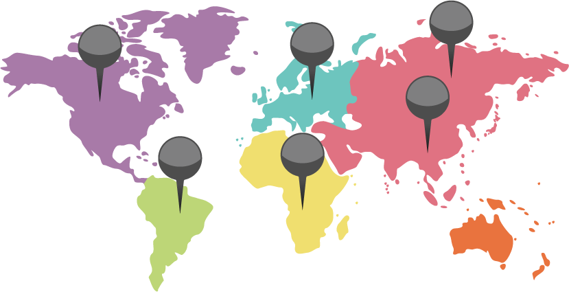 各国でのサービスエリア